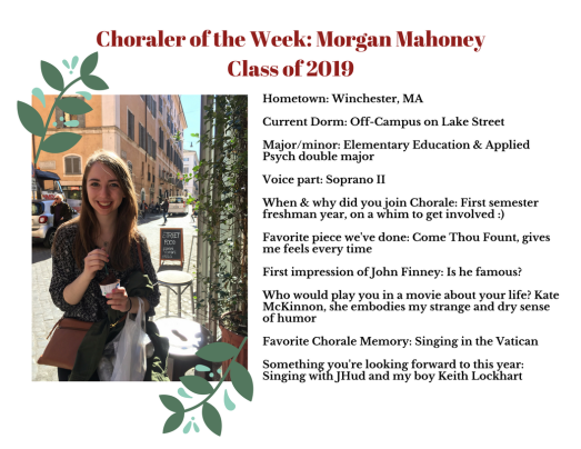 Choraler of the Week- Morgan Mahoney.png