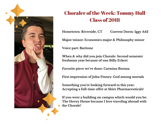 Choraler of the Week- Tommy Hull