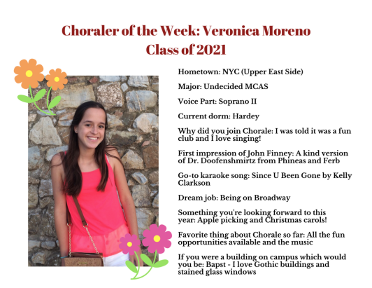 Choraler of the Week- Veronica Moreno