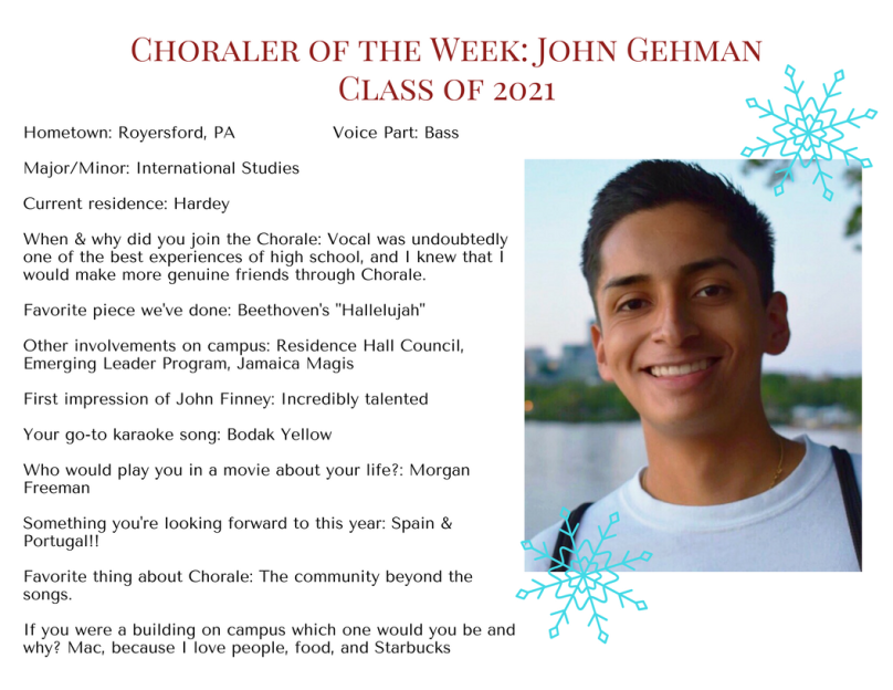 Choraler of the Week- John Gehman
