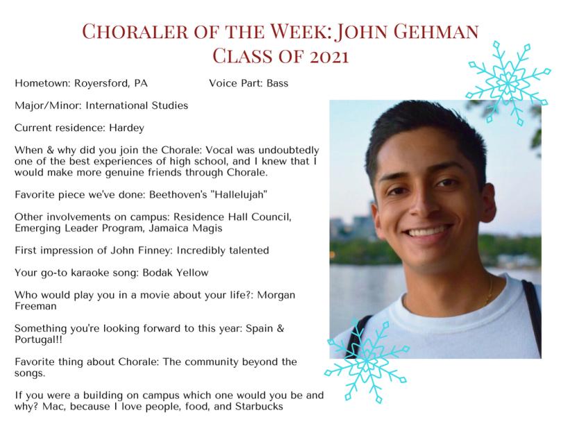 Choraler of the Week- John Gehman